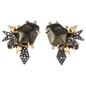 ALEXIS BITTAR • Encrusted Starburst Stone Earrings